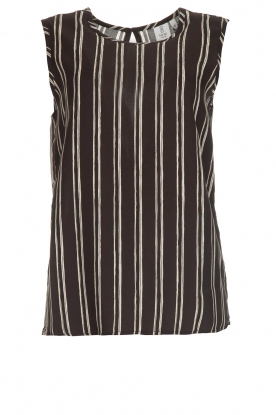 Knit-ted |  Striped top Grace | black