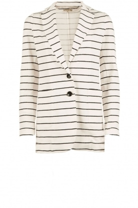 Striped blazer Sky | black & white
