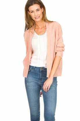 Knit-ted |  Cardigan Emma | pink