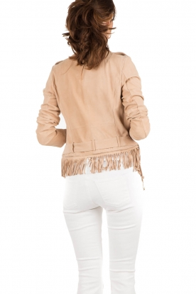 Leather Jacket Joko | beige