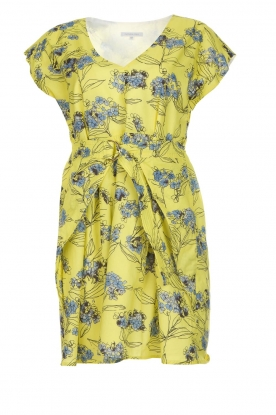 Patrizia Pepe Jurk met bloemenprint Kalis  geel