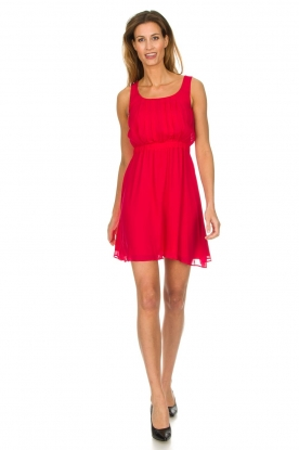 Patrizia Pepe |  Dress with pleat details Kyrsten | red