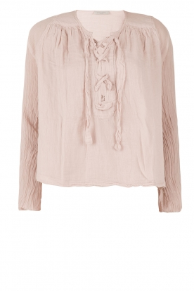 Hunkydory | Lace-up top Monte | nude