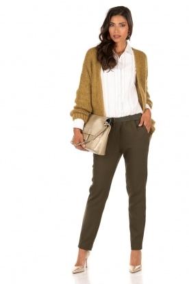 Knitted cardigan Dylene | kaki