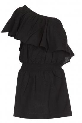 Rough Studios   One-shoulder jurk Foxi   zwart