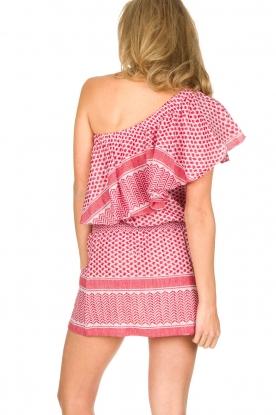 Rough Studios | One-shoulder jurk Foxi | rood