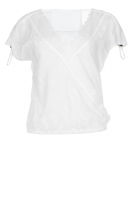 Patrizia Pepe |  Blouse with lace details Maria | white
