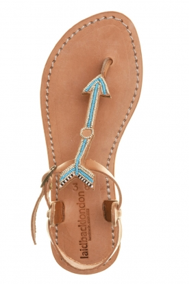Laidback London |  Leather sandals East | blue