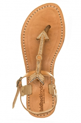 Laidback London |  Leather sandals East | green