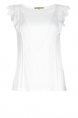 Patrizia Pepe | Top with lace Mylena | white