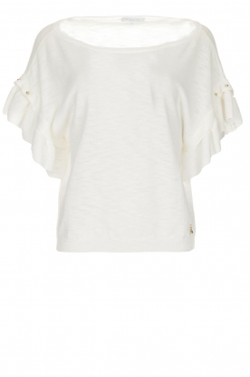 Patrizia Pepe | Top with studs Hermione | white