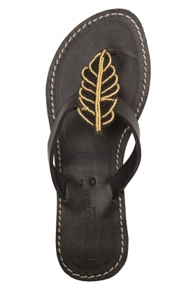 Laidback London |  Leather Sandals Baha | black