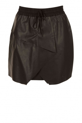 Aaiko |  Faux leather skirt Sue | black