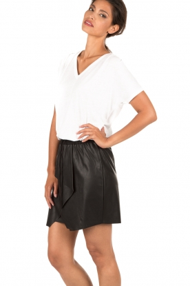 Faux leather skirt Sue | black