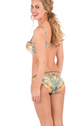 Camilla | Push-up bikini met Swarovski Elsal | bruin