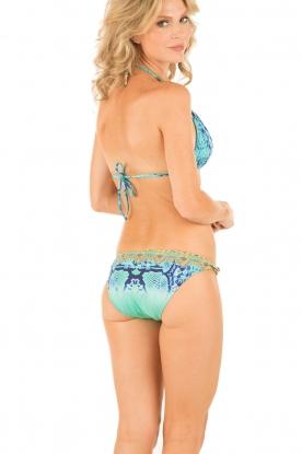 Camilla | Bikini met Swarovski Gold Ball | blauw