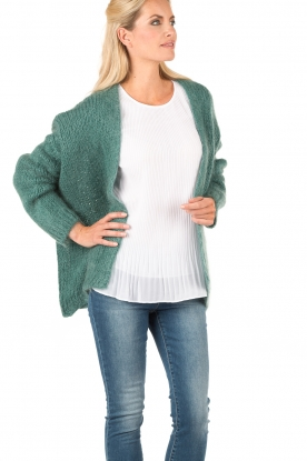 Knitted cardigan Dylene | aqua green