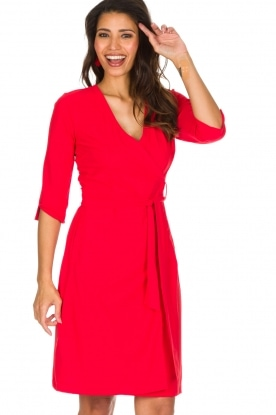 D-ETOILES CASIOPE | Stretch overslagjurk Nois | rood