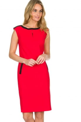 D-ETOILES CASIOPE | Stretchjurk Nadeche | rood