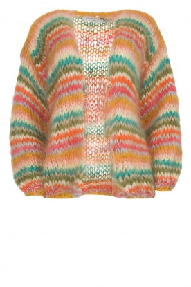 Les tricots d'o |  Mohair cardigan Lene | multi