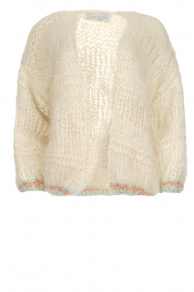 Les tricots d'o |  Wool cardigan Ilvy | white