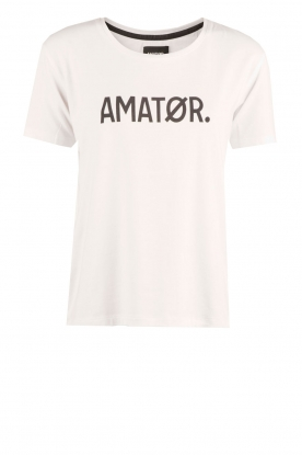 T-shirt Amator | wit