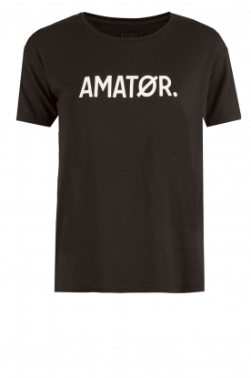 T-shirt Amator | zwart