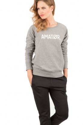 Amatør | Logo sweater Amator | grijs