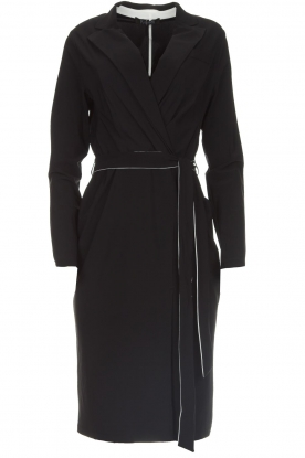 D-ETOILES CASIOPE | Wrinkle free stretch dress Rien | black