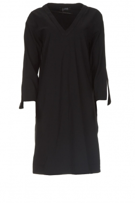 D-ETOILES CASIOPE | Wrinkle free stretch dress Riche | black