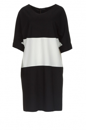 D-ETOILES CASIOPE |  Wrinkle free oversized dress Reçu | black & white
