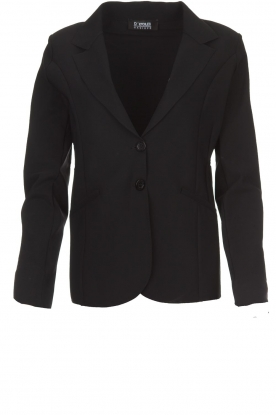 D-ETOILES CASIOPE |  Wrinkle free stretch blazer Ruby | black