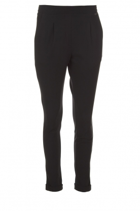 D-ETOILES CASIOPE |  Wrinkle free stretch trousers Rover | black
