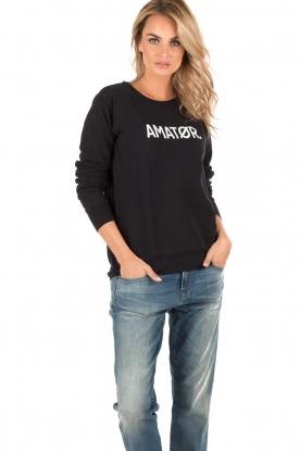 Amatør | Logo sweater Amator | donkerblauw