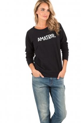 Logo sweater Amator | dark blue