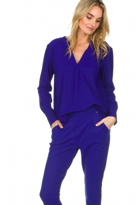 D-ETOILES CASIOPE |  Wrinkle free stretch top Regine | purple
