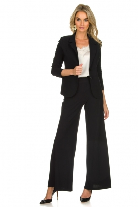 D-ETOILES CASIOPE |  Wrinkle free flare trousers Regarder | black