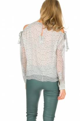 Hunkydory | Top met sterrenprint Agnes | wit