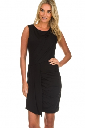 Kocca |  Draped dress Klore | black