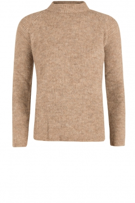 Amatør |  Knitted turtleneck sweater Wonder | brown