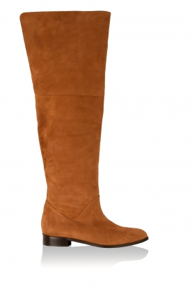 L'enfant Terrible |  Suede over-the-knee boots Second Skin | Brown