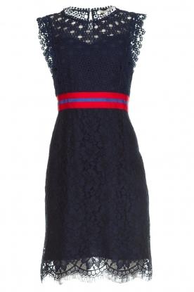 Kocca Kanten jurk Vand  donkerblauw