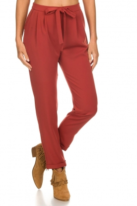 Kocca |  Trousers with bow Elina | brown