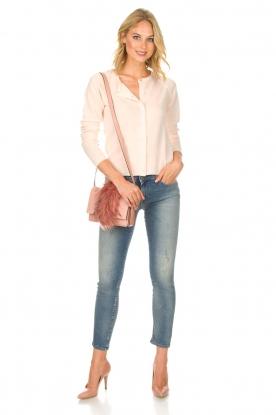 Rosemunde | Wollen vest met kasjmier Marbelle | roze