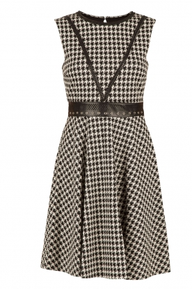 Houndstooth dress Lo�s | black & white