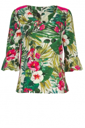 Kocca |  Floral top Jangle | multi
