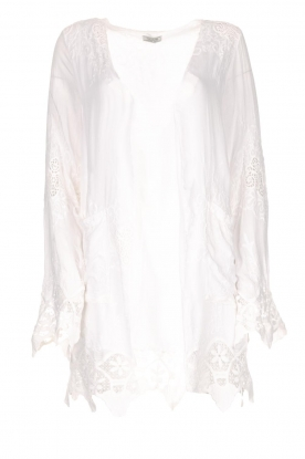 Fracomina |  Cardigan with lace Winnifred | white