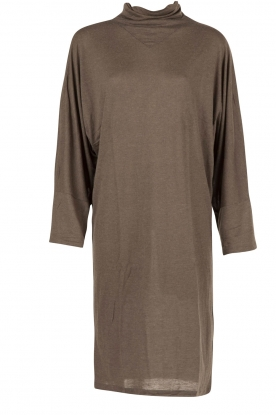 IRO |  Dress with turtle neck | steel grey