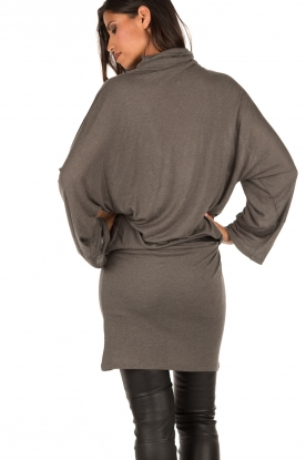Dress with turtle neck | steel grey