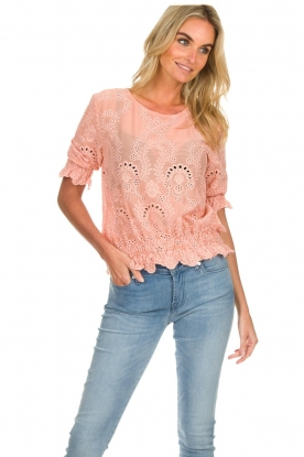 Fracomina | Broderie top Tessa | roze